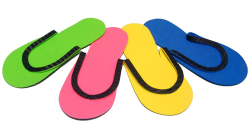 Slip-Resistant Rubber Strip Slipper (12pairs/bag)