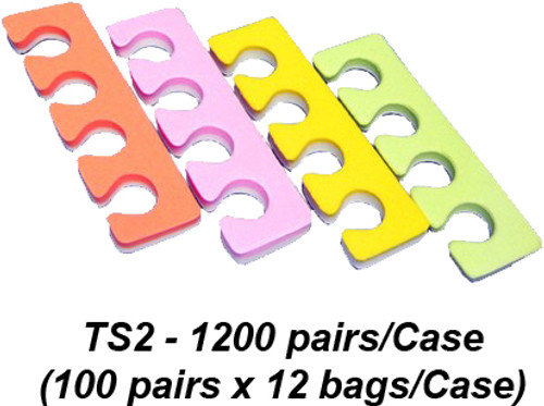 Toe Separators, Multi-Color, Case of 1200 pair (TS2)