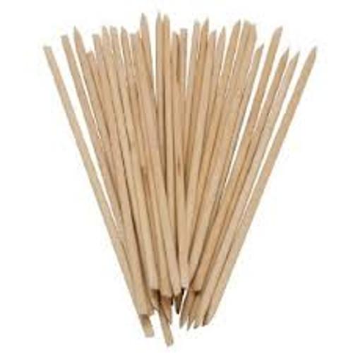 Orange Wood Sticks, Long, Dual Tip 50 each