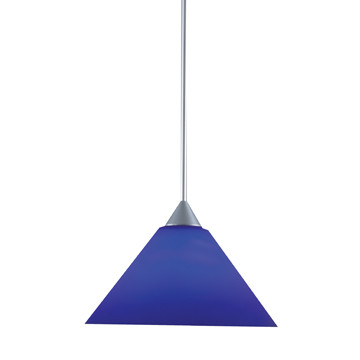 Blue Conical Cased Glass
