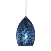 Blue Mosaic Glass Shade