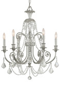 CRYSTORAMA 5116-OS-CL-MWP Regis 6 Light Clear Crystal Silver Chandelier I
