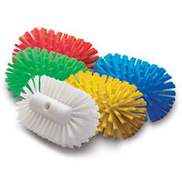Malish Crimped Poly Kettle Brush - Yellow