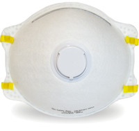 White Respirator with Exhalation Valve