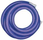 """Vacuum Hose; Blue, 1.5"""" x 25' w/cuffs"""
