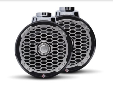 """The PM2652W-B is a Punch 6.5"""" 2-way wakeboard tower speaker enclosure featuring marine grade weather proofing technologies. Supplied in all black with a stainless steel sport grille."""