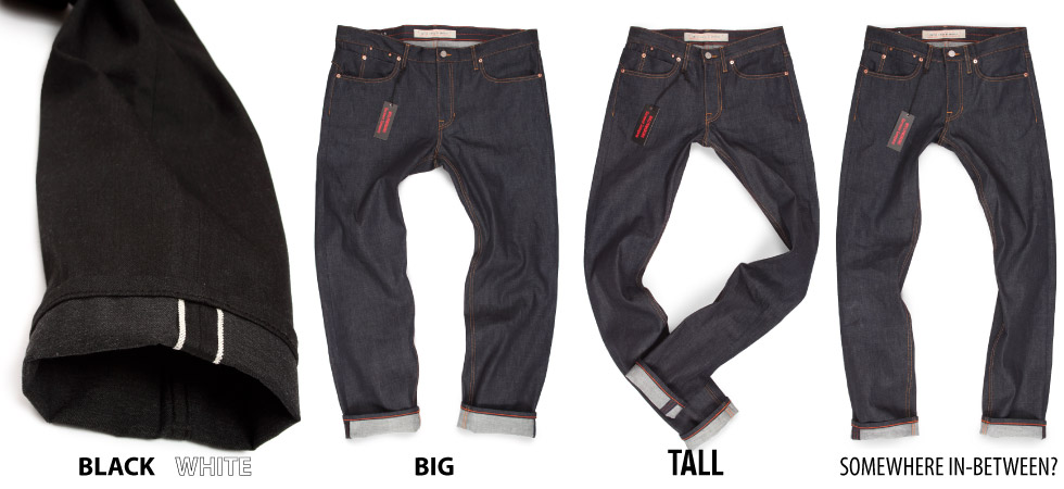 made in usa jeans raw big & tall jeans