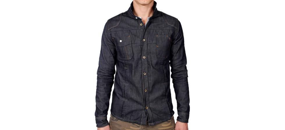 Men's raw denim shirt