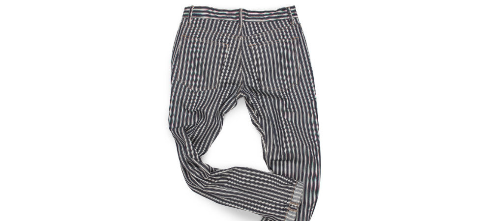 Men's striped jeans made in the usa