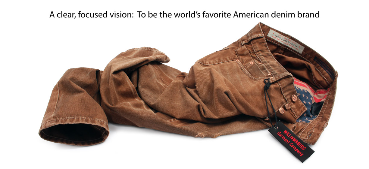 American made jeans by Williamsburg Garment Comany