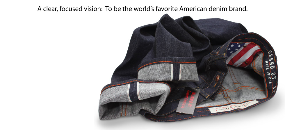 American made raw selvage jeans