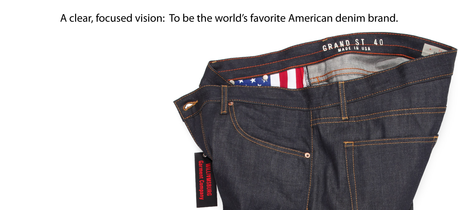 Big Mens raw American made denim jeans