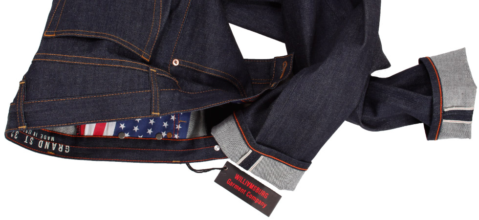 Raw selvage jeans made in USA