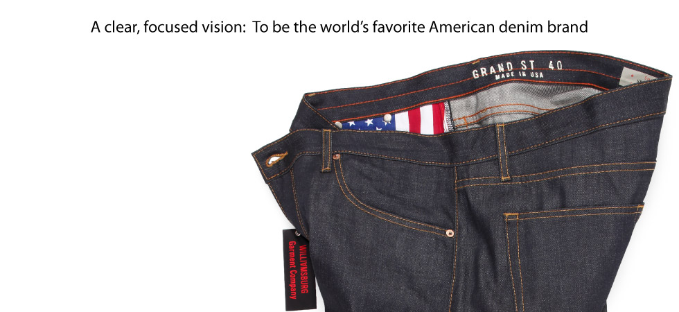 Big Mens raw denim jeans size 40 | Big & Tall Jeans made in USA