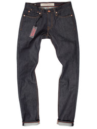Raw denim jeans made in USA, Slim Tapered Fit
