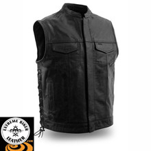 Sniper FIM685CSL Men's One Panel Concealment Vest With Snap & Zipper Front