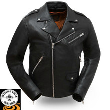 Enforcer FIM297CLMZ Men's Leather Motorcycle Jacket   First Manufacturing