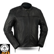 Top Performer FIM288CHRZ Men's Sporty scooter style jacket | First Manufacturing