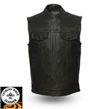 Hotshot FIM686CPM Men's Leather Vest | First Manufacturing