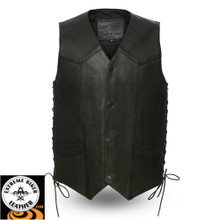 Deadwood FIM644CPM Men's Leather Vest | First Manufacturing