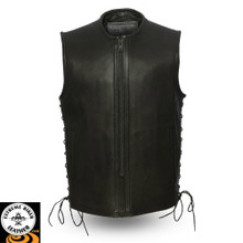 Venom FIM654CPM Men's leather vest | First Manufacturing