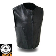 Raceway FIM647CDM Men's Diamond Leather Vest | First Manufacturing