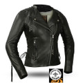 Black Widow FIL191SDMZ Ladies Leather Jacket | First Manufacturing
