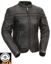 Maiden FIL162NTCZ  Women's Motorcycle Sporty Scooter Jacket