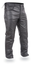 FIM807 Mens Deep Pocket Motorcycle Over chap-pant are great leather chap pants. The side zippers give easy wear access. Great chaps for the long distance biker.