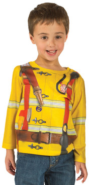 Faux Real Toddler Fireman - Model Front View