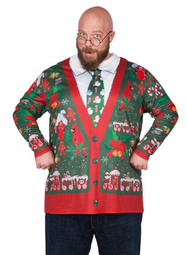 Big Size Ugly Xmas Cardigan