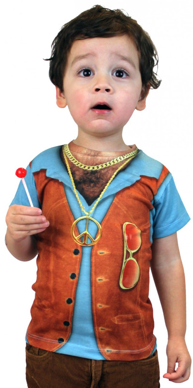 Faux Real Toddler 1970's Vest