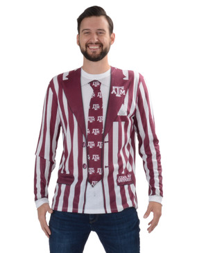 Texas A&M Striped Suit Tee