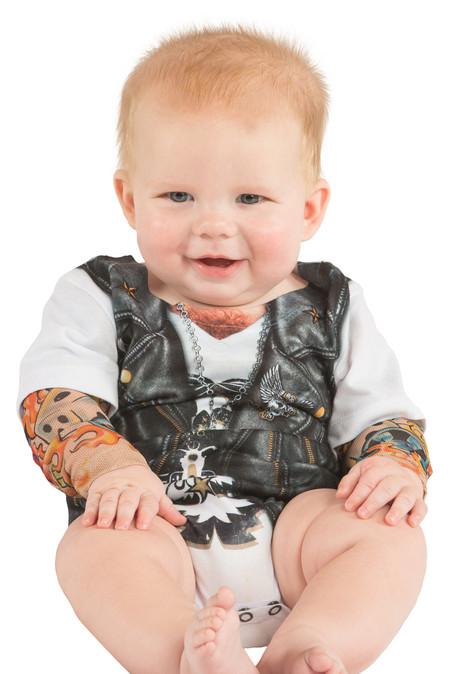 Faux Real Infant Biker Romper