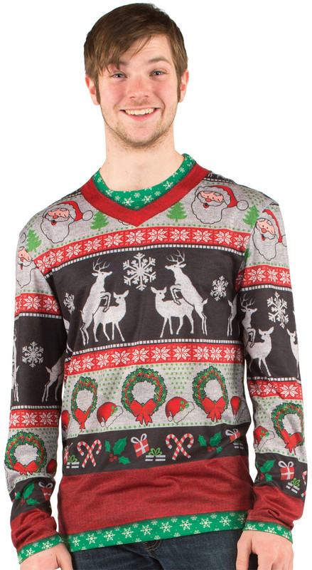 Christmas Frisky Deer Sweater - Front View