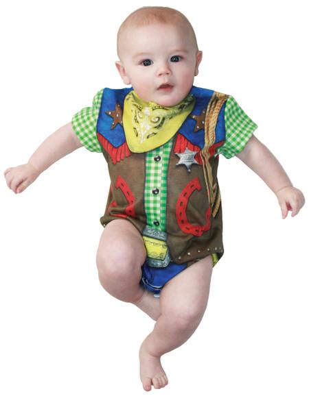 Faux Real Infant Cowboy Romper