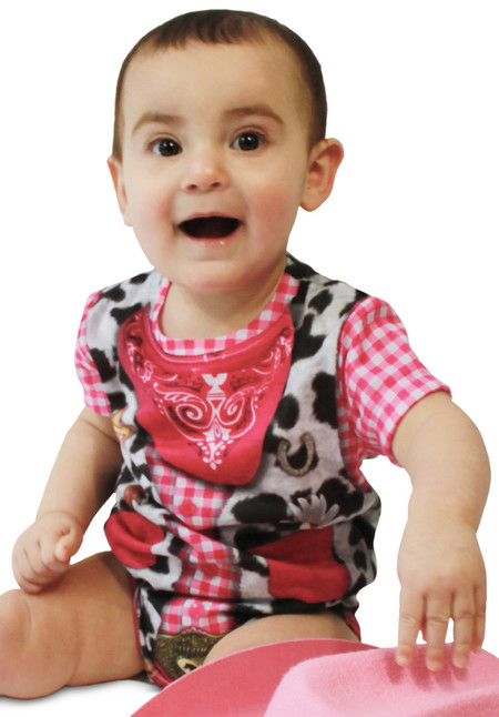 Faux Real Infant Cowgirl Romper