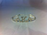 Alpha Kappa Alpha Sorority Bracelet-Silver