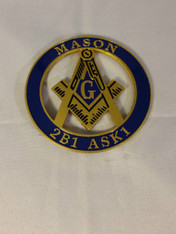 Mason Masonic Cut Out Car Emblem
