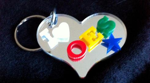 O.E.S. Heart Keychain