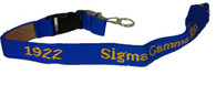 Sigma Gamma Rho Sorority Lanyard/ Key chain