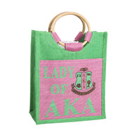 Alpha Kappa Alpha AKA Sorority Mini Pocket Jute Bag