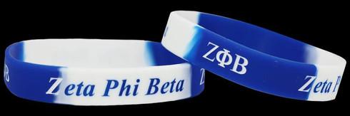Zeta Phi Beta Silicone Bracelet