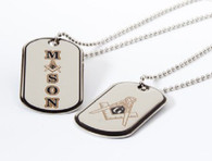 Mason Masonic Reversible Dog Tag