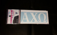 Alpha Chi Omega White Car Letters