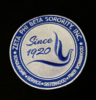 Zeta Phi Beta Sorority New Crest Iron-On Emblem/Patch