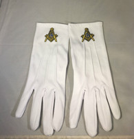 Mason Masonic Gloves with Symbol- Gold