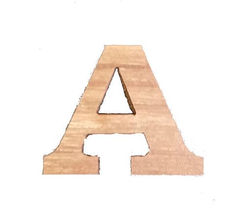 "1"" Single Wood Letter"