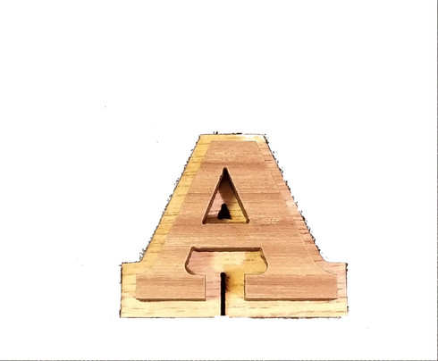 "1.5"" Double Wood Letter"