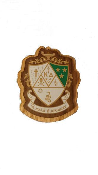 Kappa Delta Raised Wood Crest